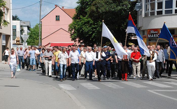 Nekoliko stotina ljudi učestvovalo u obilježavanju godišnjice odbrane grada