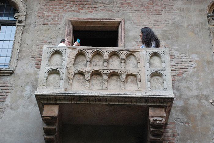 Balkon Julijine kuće u Veroni