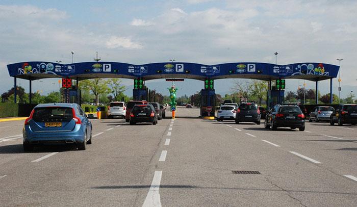 Ulaz na parking Gardalanda